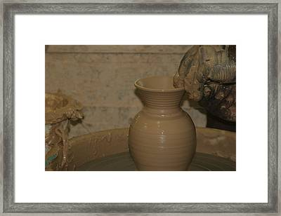 Hands Of The Potter Framed Print by Dervent Wiltshire