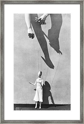 Hands Of The Puppeteer, 1929 Framed Print