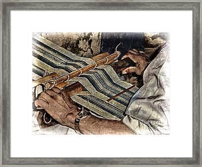 Hands Of The Weaver Framed Print by Julia Springer