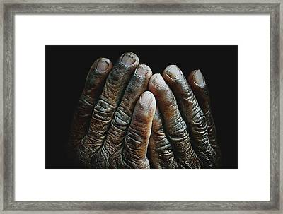 Hands Of Time 2 Framed Print by Skip Nall