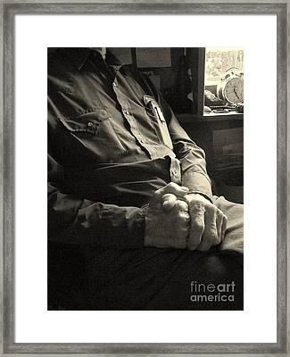 Hands Of Time Framed Print by Joe Jake Pratt
