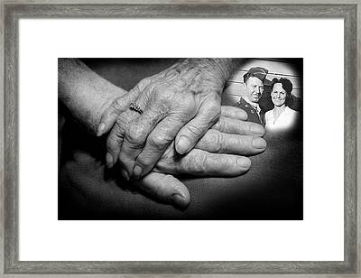 Framed Print featuring the photograph Time On Our Hands by Shirley Heier