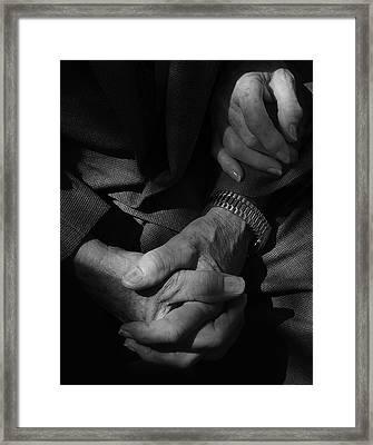 Hands Of Time Framed Print by Steven Milner