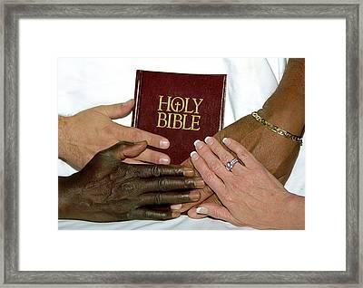 Hands On Bible Framed Print