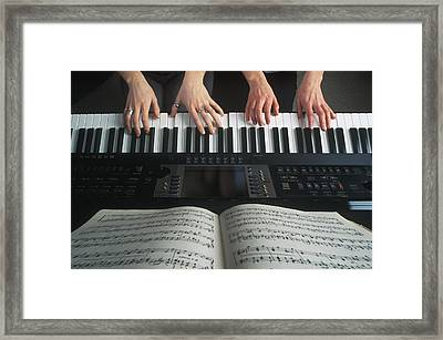 Hands On Keyboard Framed Print by Kelly Redinger