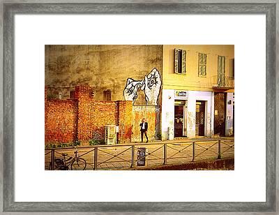 Hands On Me Framed Print by Valentino Visentini