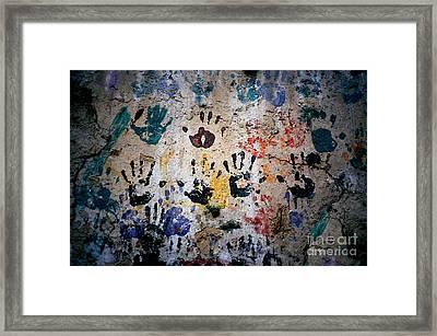 Hands On Wall Framed Print by Eva Kato