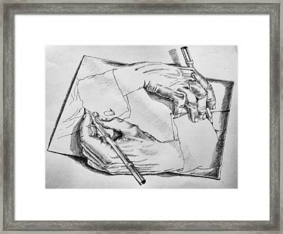 Hands Framed Print by Sumit Jain