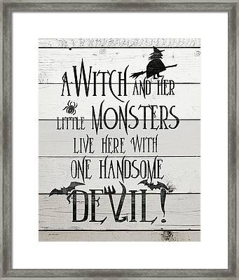 Handsome Devil Framed Print by Jo Moulton