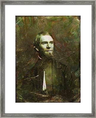 Handsome Fellow 2 Framed Print by James W Johnson