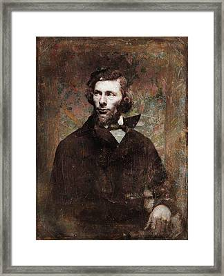 Handsome Fellow 4 Framed Print by James W Johnson