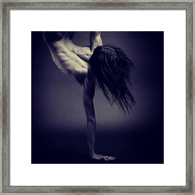 Handstand  Censored For Facebook Framed Print