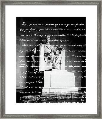 Handwritten Gettysburg Address Framed Print