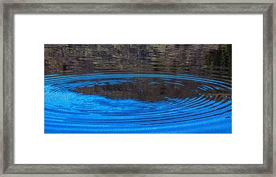 Handy Ripples Framed Print by Omaste Witkowski