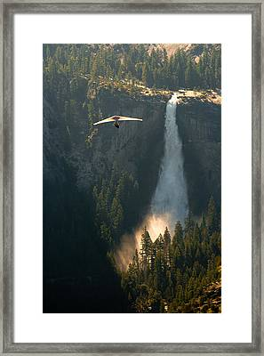 Hang Glider In Yosemite National Park Framed Print