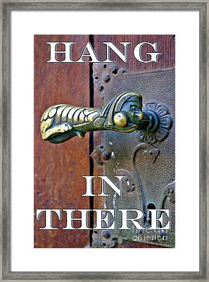 Hang In There Framed Print by Henry Kowalski