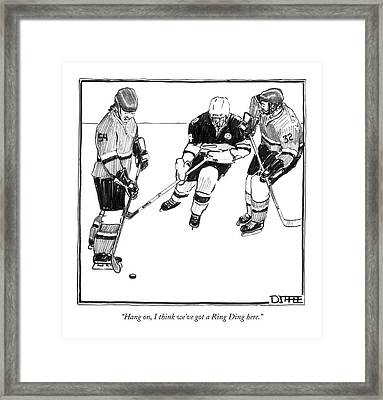 Hang On, I Think We've Got A Ring Ding Here Framed Print by Matthew Diffee
