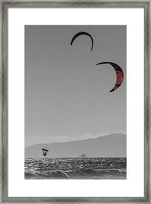 Hang Time Framed Print by Scott Campbell