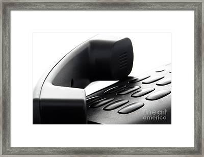 Hang Up Framed Print by Olivier Le Queinec