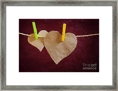 Hanged Heart Framed Print by Carlos Caetano