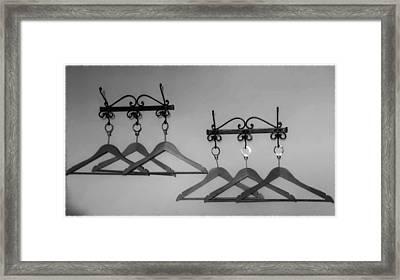 Hangers Framed Print