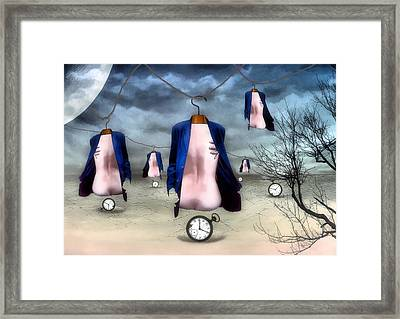 Hangers Framed Print by James Stough