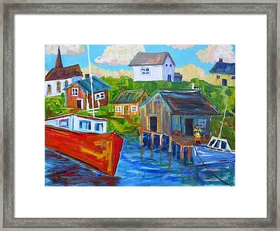 Hangin' Out At The Cove Framed Print