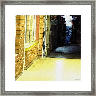 Hangin' Out Friday Night Framed Print by Lin Haring
