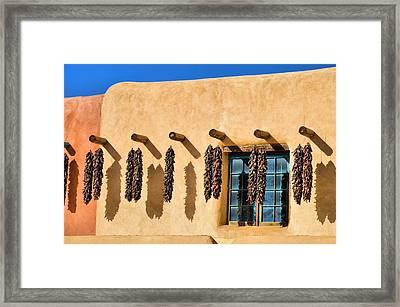 Hanging Around In Taos Framed Print