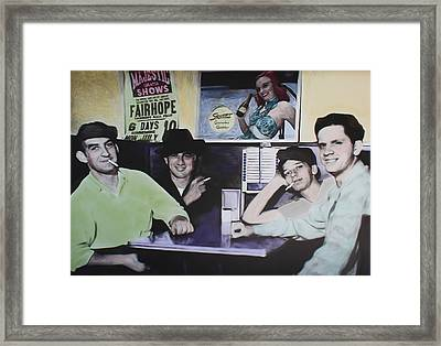 Hanging At The Diner 1949 Framed Print