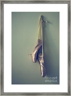 Hanging Ballet Slippers Framed Print