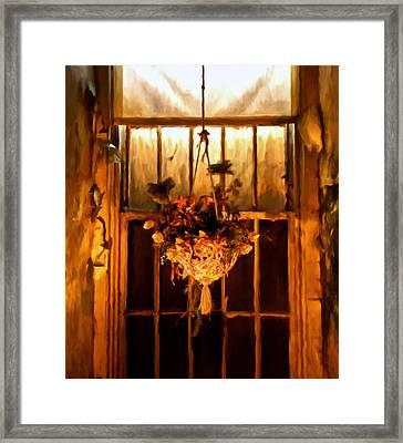 Hanging Basket Framed Print by Michael Pickett