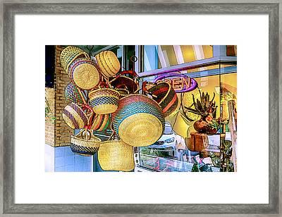 Hanging Baskets Framed Print