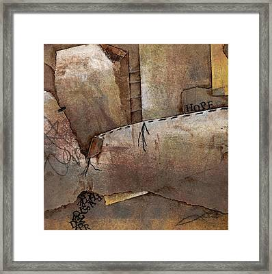 Hanging By A Thread Framed Print by Laura  Lein-Svencner