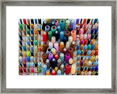 Hanging By Many Threads Framed Print by Paulette B Wright