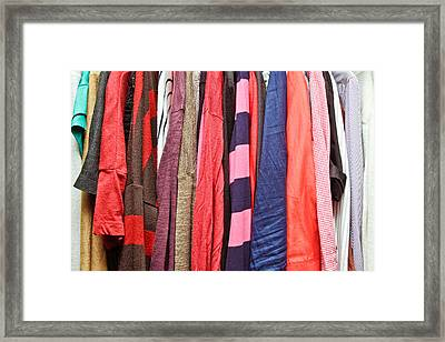 Hanging Clothes Framed Print