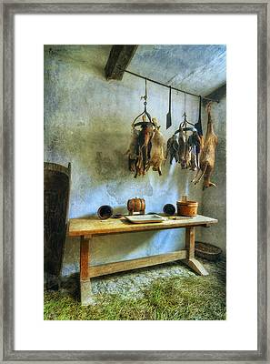 Hanging Game Framed Print by Ian Mitchell