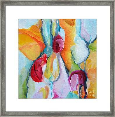 Framed Print featuring the painting Hanging Garden 102 by Elis Cooke