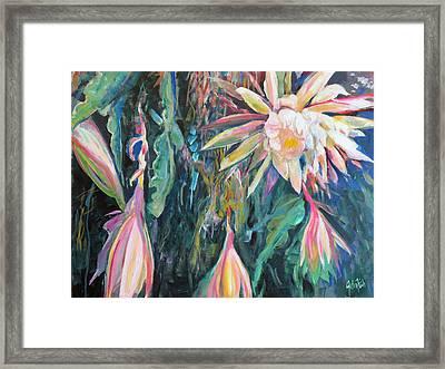 Hanging Garden Floral Framed Print by John Fish