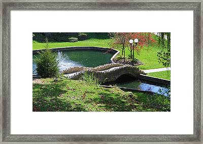Hanging Garden In Indiana Framed Print by Dan Sproul