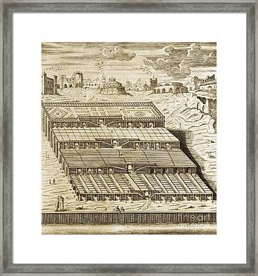 Hanging Gardens Of Babylon, 1679 Artwork Framed Print by Asian And Middle Eastern Division