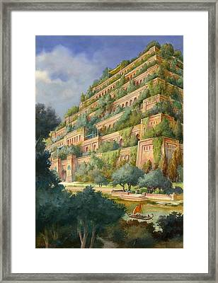 Hanging Gardens Of Babylon Framed Print by English School