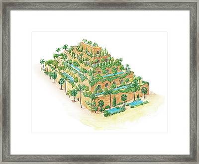 Hanging Gardens Of Babylon Framed Print by Gary Hincks