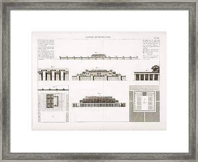 Hanging Gardens Of Babylon Framed Print by Science, Industry And Business Library/new York Public Library