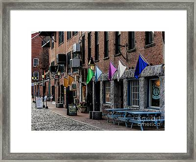 Hanging In The Old Port Framed Print by Joe Faragalli
