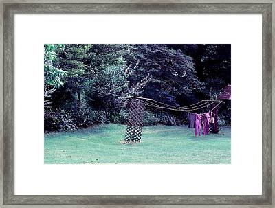 Hanging In Time Framed Print by Paulette Maffucci
