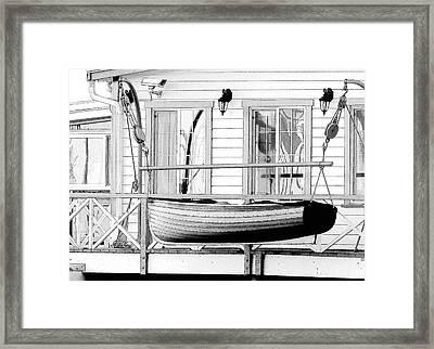 Hanging In Wait Framed Print by Douglas J Fisher