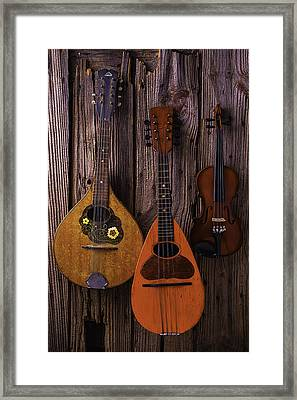 Hanging Instruments Framed Print