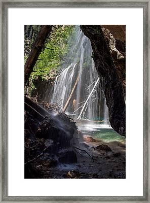 Hanging Lake - Under The Falls Framed Print