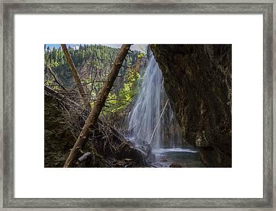Hanging Lake Falls Framed Print by Michael J Bauer